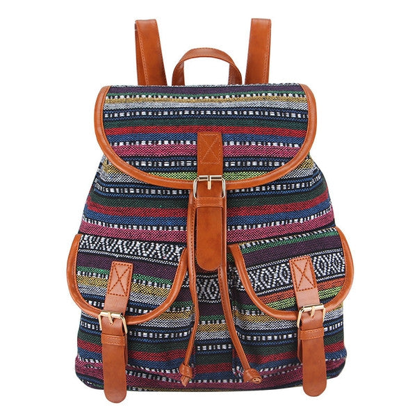 Z-Interweave Canvas Backpack-SOLD-SOLD-Daring Diva Australia