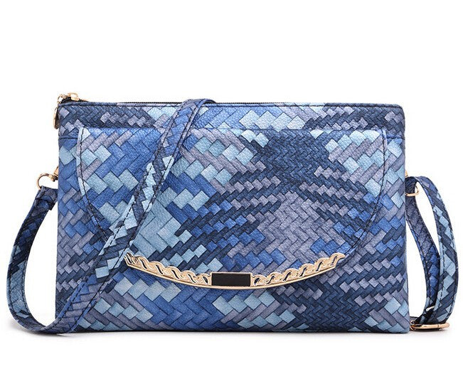 Z-Croc Style Day Clutch Blue-SOLD-SOLD-Daring Diva Australia