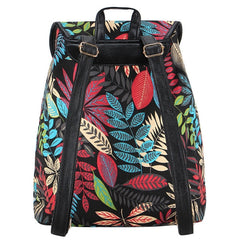 Z-Autumn Rush Canvas Backpack Black-SOLD-SOLD-Daring Diva Australia