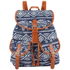 Z-Ellie Canvas Backpack Blue-SOLD-SOLD-Daring Diva Australia