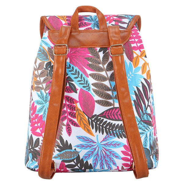 Z-Autumn Rush Canvas Backpack Blue-SOLD-SOLD-Daring Diva Australia