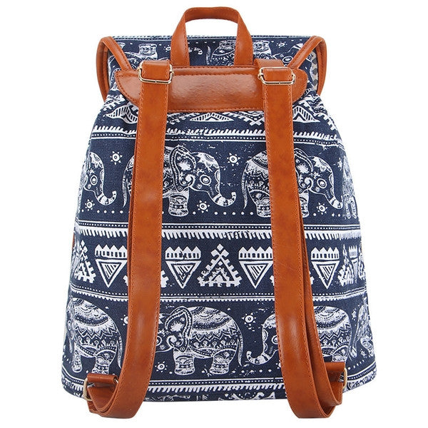 Ellie Canvas Backpack Blue-SOLD-SOLD-Daring Diva Australia