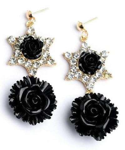 SPLICE COLOURED FLOWER EARRINGS-Jewellery-Jewellery-Daring Diva Australia
