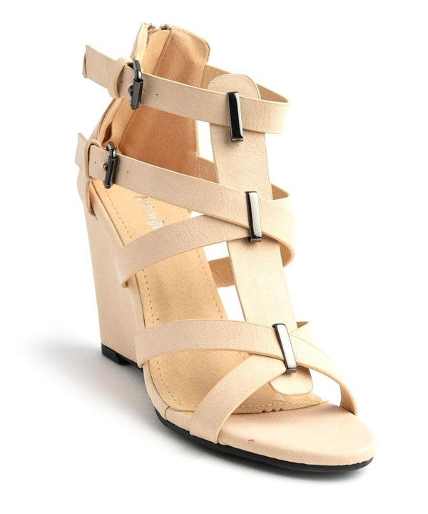 Prevail Beige Wedges-Shoes-WFS Shoes-Daring Diva Australia