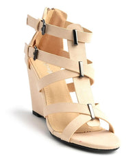 PREVAIL BEIGE WEDGES-Clearance-WFS Shoes-Daring Diva Australia