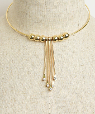 DANGLED DIAMONDS CHOKER GOLD-Jewellery-Jewellery-Gold-Daring Diva Australia