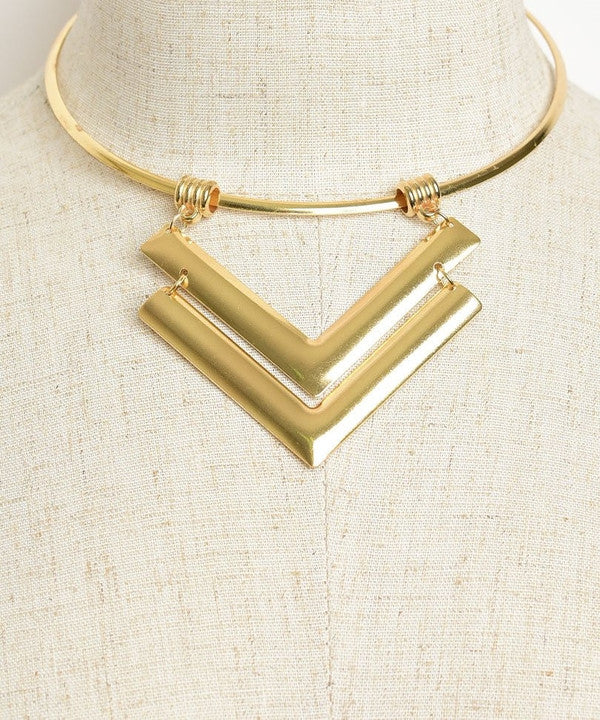 ARROW DROP CHOKER GOLD-Jewellery-Jewellery-Daring Diva Australia