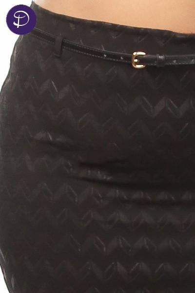 Z-Zig Zag Detail Pencil Skirt-SOLD-SOLD-Daring Diva Australia