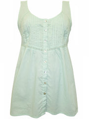 Sleeveless Pintuck Top Mint-SOLD-SOLD-Daring Diva Australia
