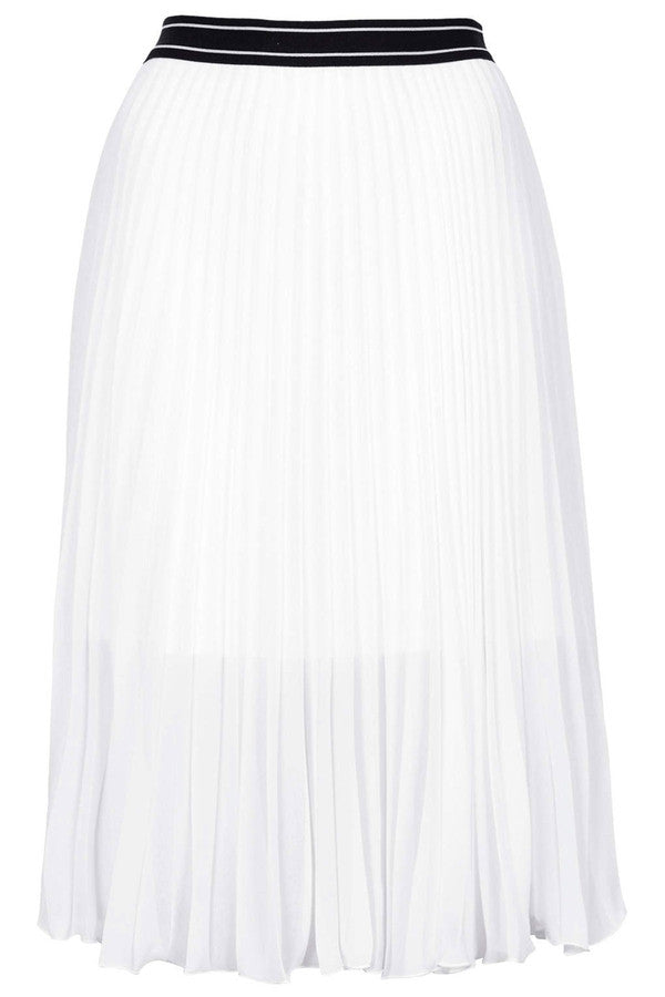 Sport Waistband Pleat Midi Skirt-SOLD-SOLD-Daring Diva Australia
