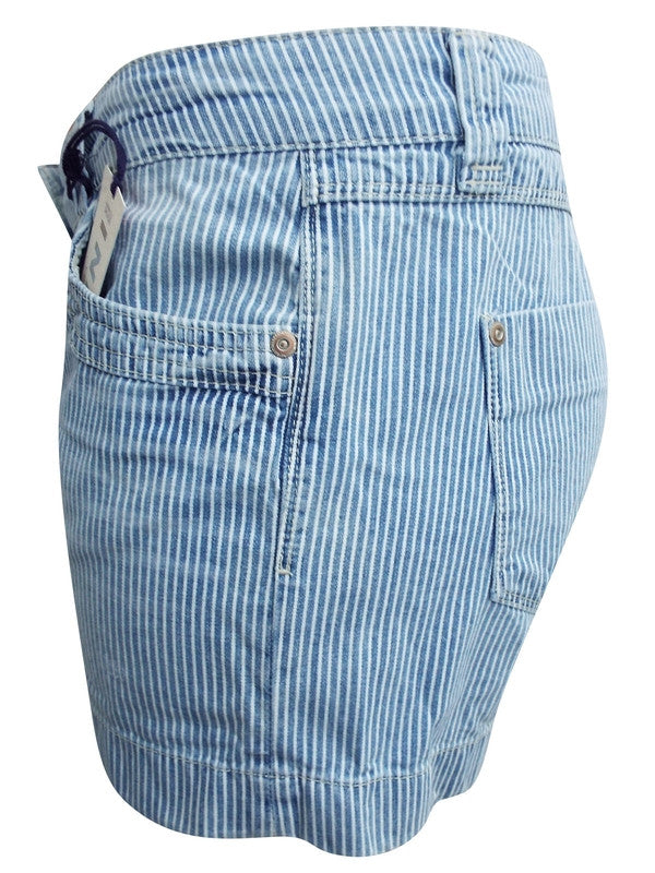 Z-Striped Denim Shorts-SOLD-SOLD-Daring Diva Australia