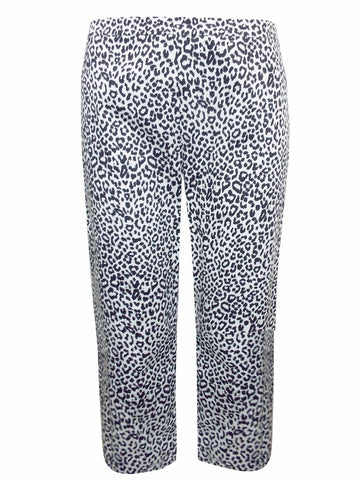 Animal Print Cropped Trousers-Clearance-FCW-Daring Diva Australia
