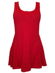 Henley Neck Tunic Dress-SOLD-SOLD-Daring Diva Australia
