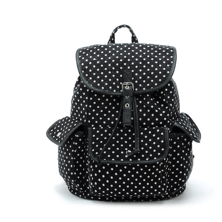 Black Polka Dot Back Pack-SOLD-SOLD-Daring Diva Australia