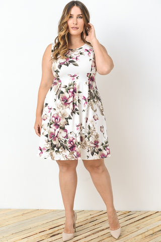 Felicity Floral Empire Dress-Dresses-GLI-Daring Diva Australia
