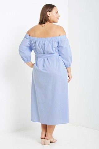 Jacinta Off Shoulder Maxi Dress-Dresses-MT-Daring Diva Australia