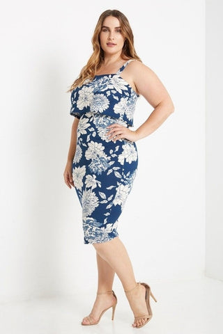 Annabelle Floral Bodycon Dress-Dresses-MT-Daring Diva Australia