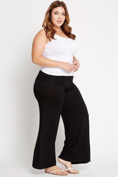 Girty Fold-Over Palazzo Pants-SOLD-SOLD-Daring Diva Australia