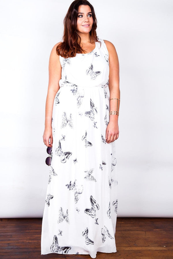 Z-Smokey Butterfly Maxi Dress-SOLD-SOLD-Daring Diva Australia