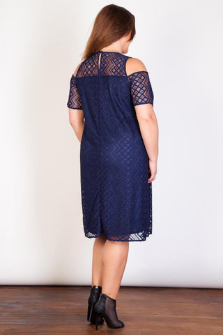 Aztec Lace Dress-Clearance-LL-18/20-Daring Diva Australia