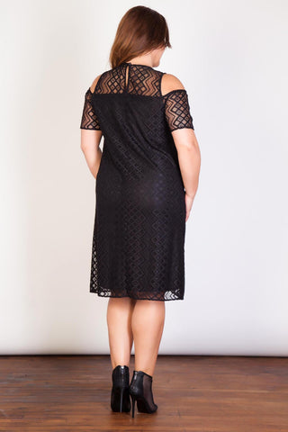 Aztec Lace Dress-Clearance-LL-Daring Diva Australia