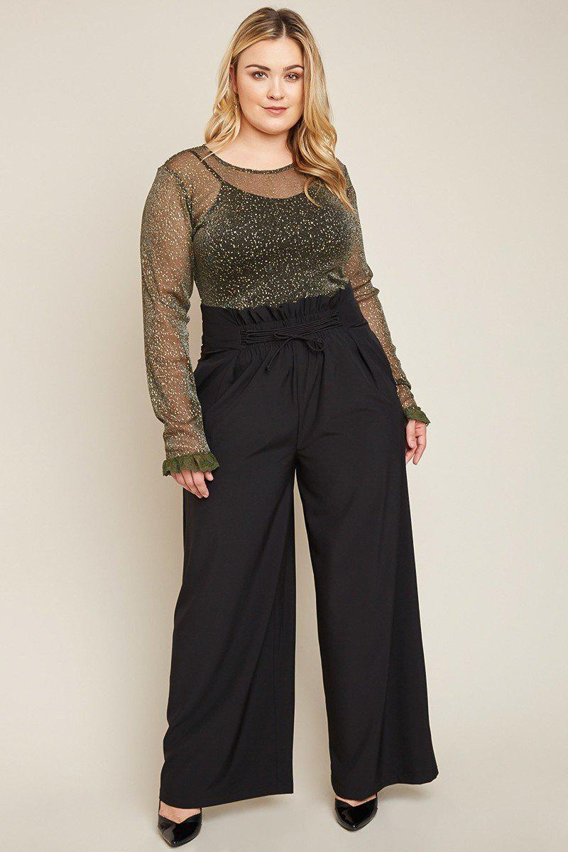 Briella Ruched Waist Pants-Bottoms-HLA-18-Daring Diva Australia