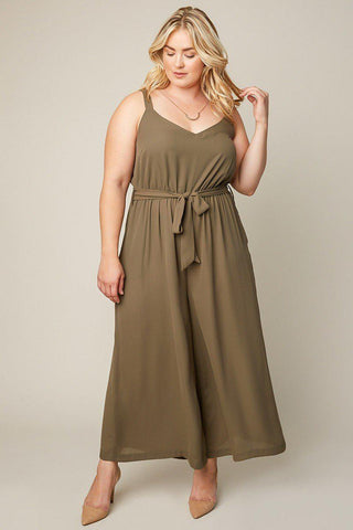 Bonnie Wide Leg Jumpsuit-Jumpsuits-HLA-Daring Diva Australia