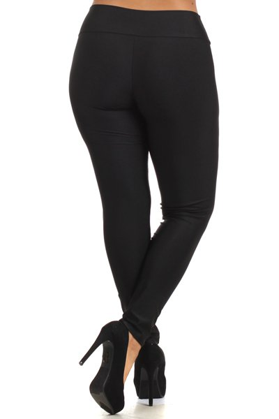 Laylani Zippered Leggings-Bottoms-KG-Daring Diva Australia