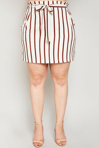 Jemima Striped Skirt-Bottoms-HLA-Daring Diva Australia