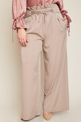 Briella Ruched Waist Pants-Bottoms-HLA-Daring Diva Australia