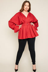 Catelya Pleated Kimono Top-Tops-HLA-Daring Diva Australia