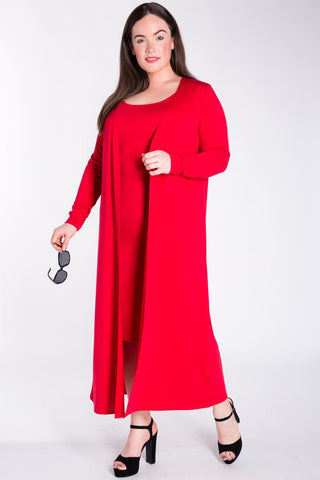 Ensley Dress & Maxi Cardigan Set-Dresses-LL-Daring Diva Australia