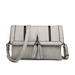 Z-TASSEL FRONT EVENING BAG GREY-SOLD-SOLD-Daring Diva Australia