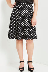 Do The Polka Flare Skirt-Bottoms-MT-Daring Diva Australia