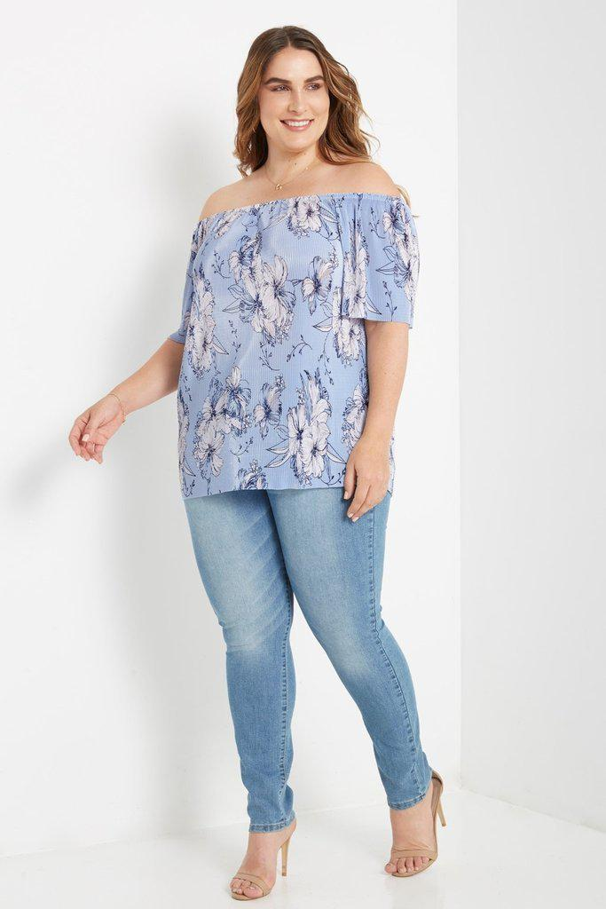 Oriental Lily Off Shoulder Top-Tops-MT-Daring Diva Australia