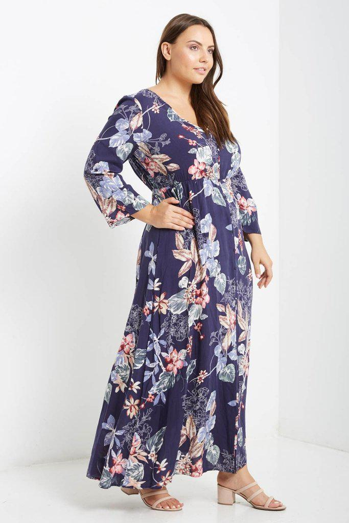 Seleena Button Down Maxi Dress-SOLD-SOLD-Daring Diva Australia