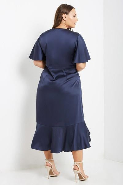 Z-Midnight Rendezvous Wrap Dress Navy-SOLD-SOLD-Daring Diva Australia