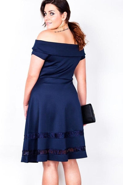 Z-Lace & Satin Flare Dress-SOLD-SOLD-Daring Diva Australia
