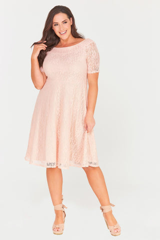 Madalyn Lace Midi Dress-Dresses-LL-Daring Diva Australia