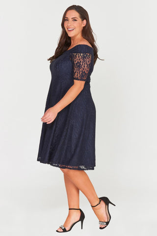 Madalyn Lace Midi Dress-Dresses-LL-16-Daring Diva Australia