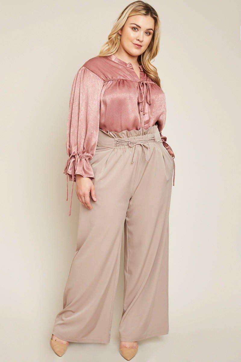 Briella Ruched Waist Pants-Clearance-HLA-Daring Diva Australia