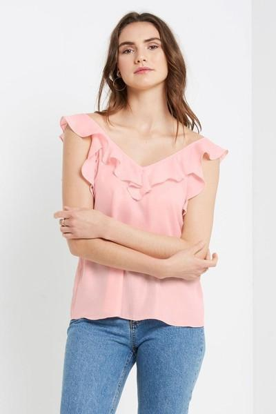 Romantic Ruffle Top-Clearance-MT-Daring Diva Australia