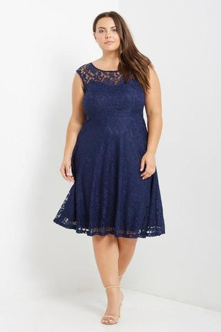 Caterina Lace Fit & Flare Dress-Dresses-MT-Daring Diva Australia
