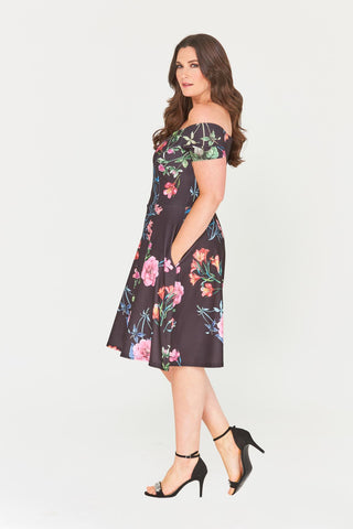 Kailyn Fit & Flare Dress-LAST ONE-LL-22-Daring Diva Australia