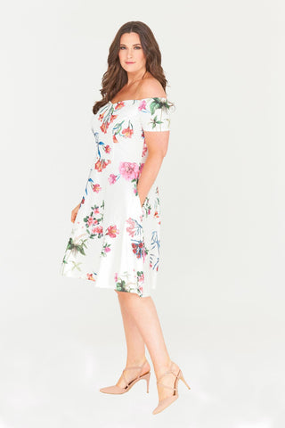 Kailyn Floral Fit & Flare Dress-Dresses-LL-Daring Diva Australia