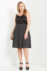 Do The Polka Flare Skirt-Bottoms-Daring Diva Australia-Daring Diva Australia