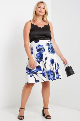 Victoria Splash Midi Skirt-Bottoms-MT-Daring Diva Australia