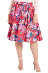 Walk In The Garden Midi Skirt-Bottoms-MT-Daring Diva Australia