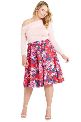 Walk In The Garden Midi Skirt-Bottoms-Daring Diva Australia-Daring Diva Australia