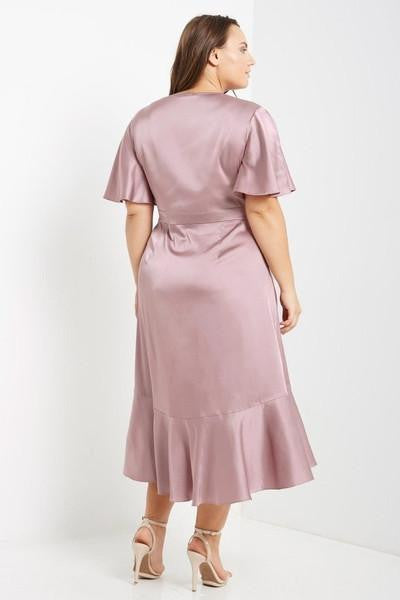 Z-Midnight Rendezvous Wrap Dress Pink-SOLD-SOLD-Daring Diva Australia